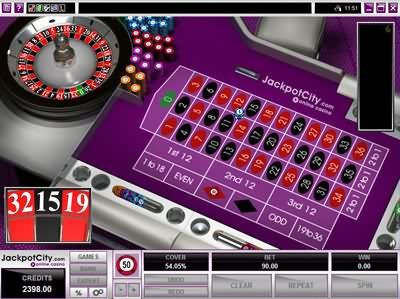 Jackpot City Online Casino Roulette Table
