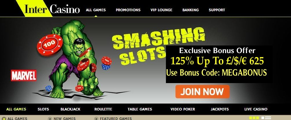 Intercasino Exclusive Bonus